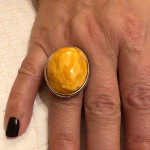 Gorgeous Amber Ring